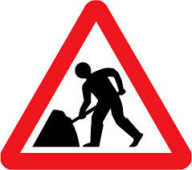 roadwork sign