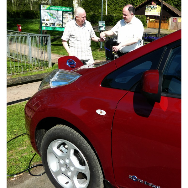 Charging Car in Canal Fields Berkhamsted