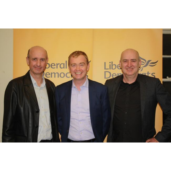 Cllr Phil Williams (picture right) with former Lib Dem leader Tim Farron