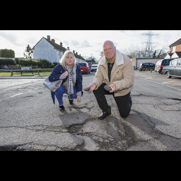 Dismay at potholes