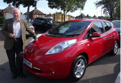 Nick Hollinghurst's Nissan Leaf
