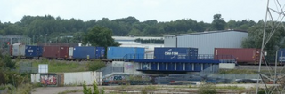 Train on Bacon Factory Chord New Bridge