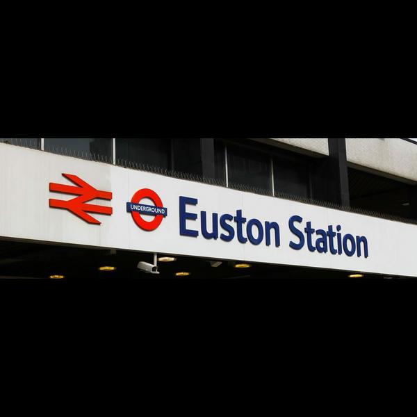 london euston sign